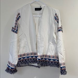 Minkpink white blazer